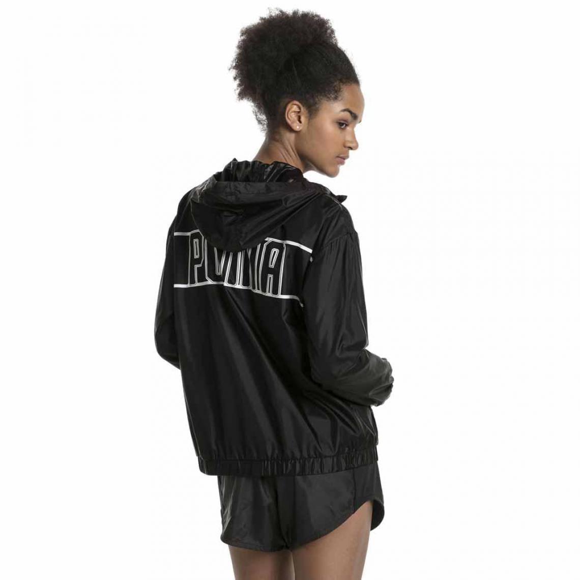 4035bde97d5a0 Veste de sport zippée manches longues à capuche PUMA femme - Noir ...