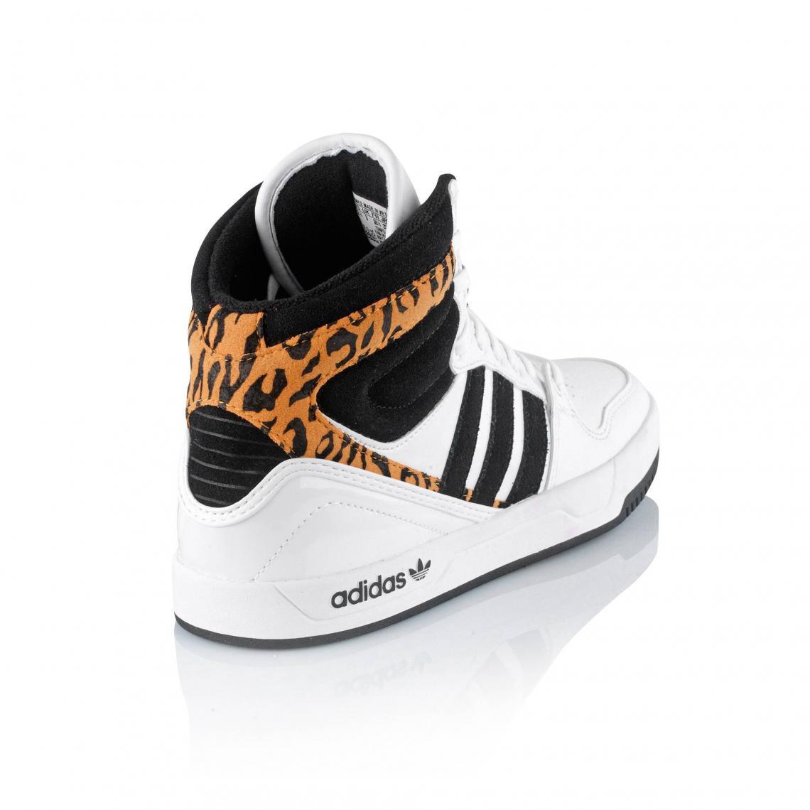 Baskets montantes à lacets Adidas filles BlancNoir
