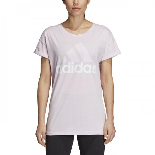 Adidas Performance - Tee-shirt Essentiel Linear Tea lilas xs - Vêtement de sport