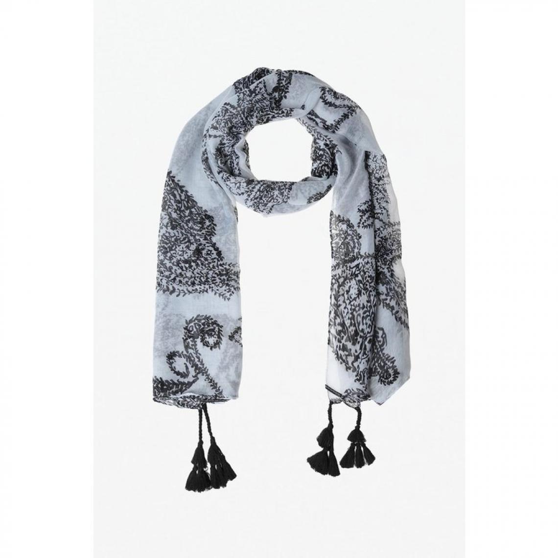 5bd9c1cd8cd0c Foulard à motifs noir et blanc cachemire femme | 3 SUISSES