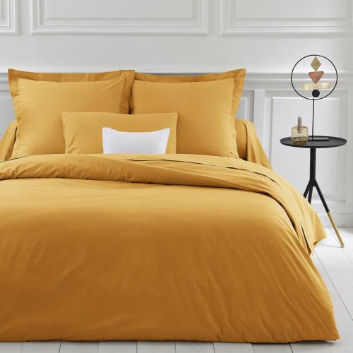 3 SUISSES Collection - Housse de couette coton unie PERCALE - Jaune - Linge de maison