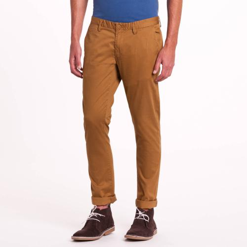 Teddy Smith - Pantalon chino slim camel Teddy Smith - Pantalon