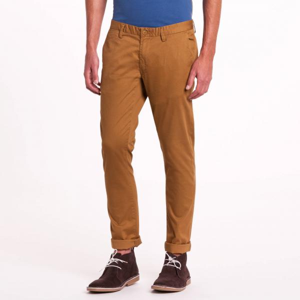 Pantalon chino slim camel Teddy Smith Teddy Smith Les essentiels Homme