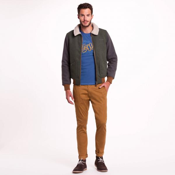 Pantalon chino slim camel Teddy Smith Teddy Smith
