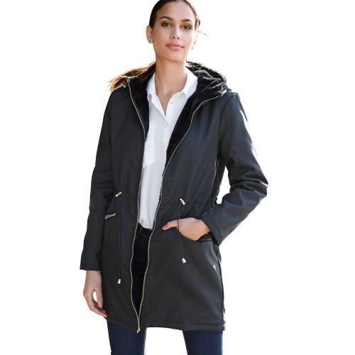 acheter en ligne 90681 e5d93 Parka réversible avec capuche, taille réglable Noir - Venca