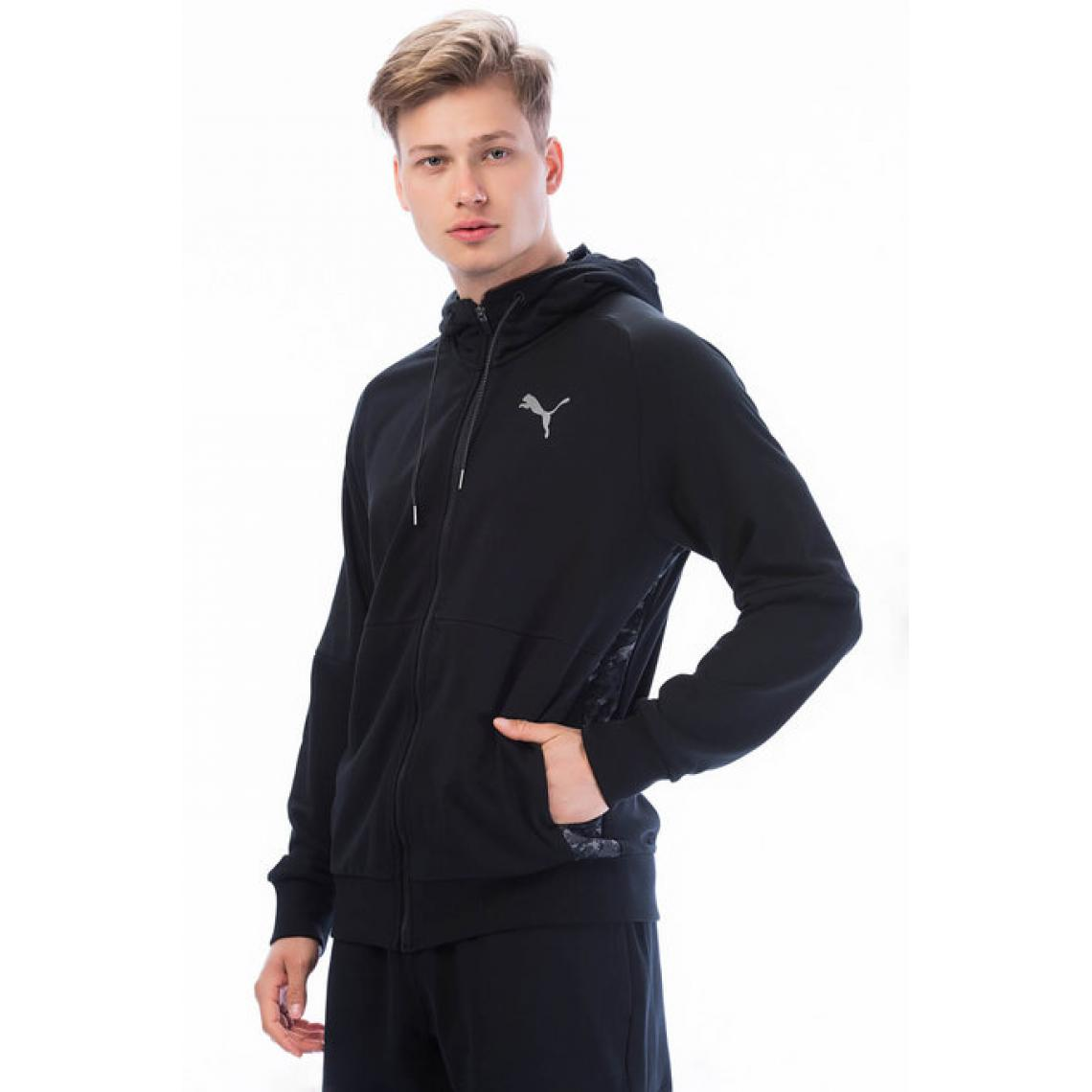 043b1e201692c Veste zippée manches longues à capuche PUMA homme - Noir | 3 SUISSES