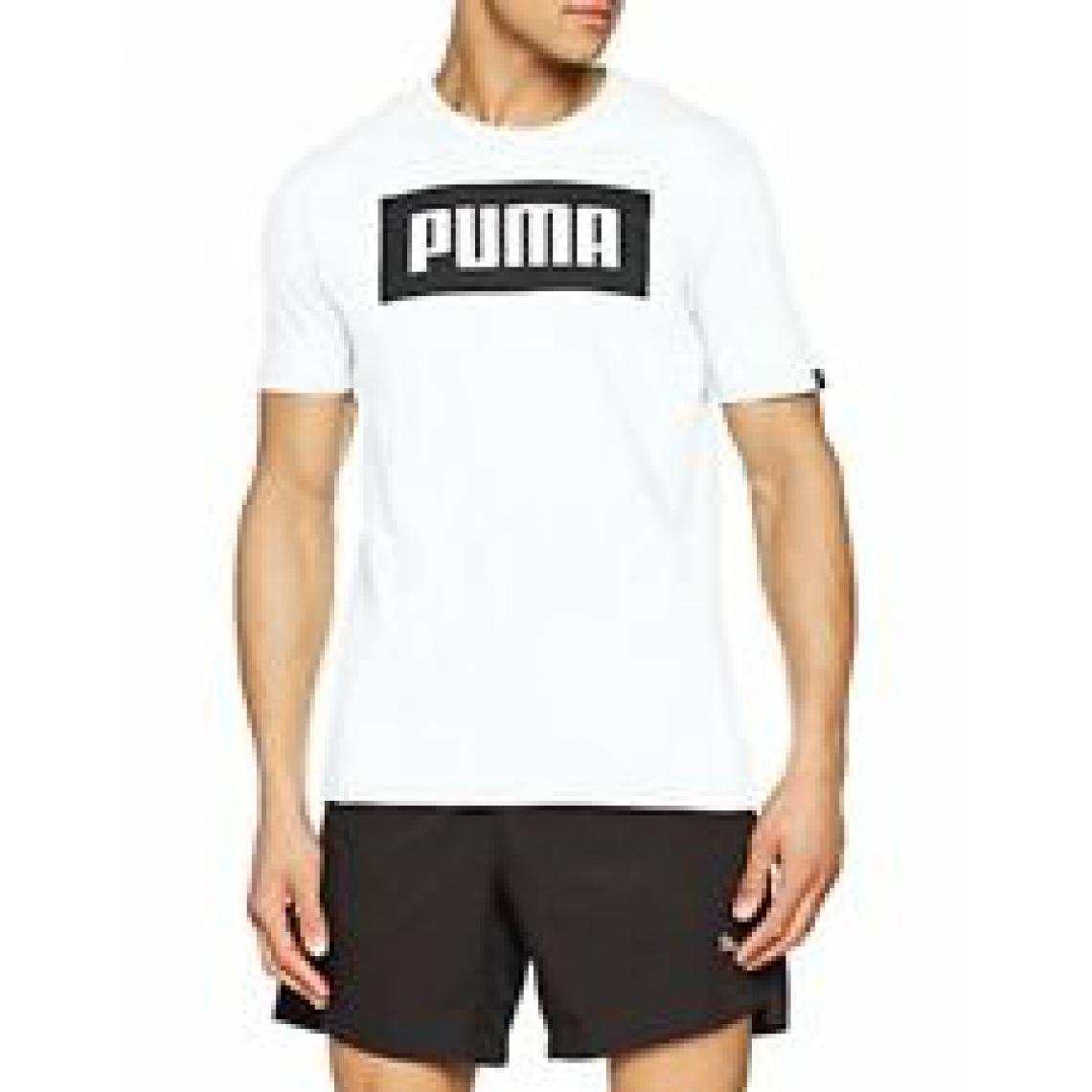 tee shirt puma homme blanc et noir