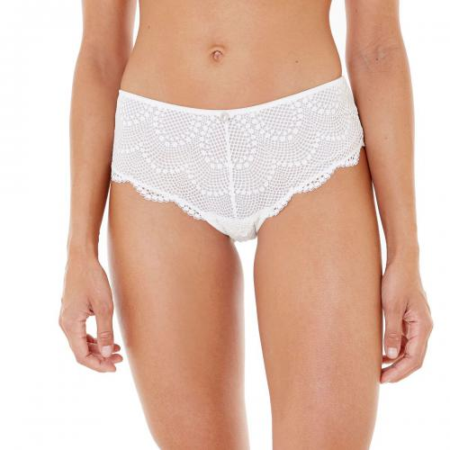 Morgan Lingerie - Shorty blanc Marilou Dentelle-blanc - Shorties, boxers