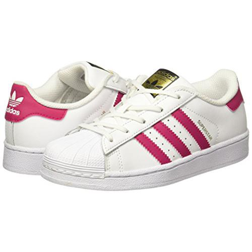 Adidas Originals - Baskets Superstar Adidas Originals fille - Blanc et Rose - Chaussures