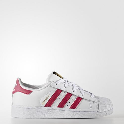 Baskets Superstar Adidas Originals fille - Blanc et Rose Adidas Originals