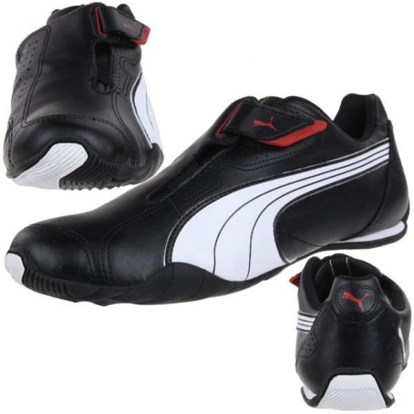 Sneaker basse à scratch Puma homme - Noir et Blanc