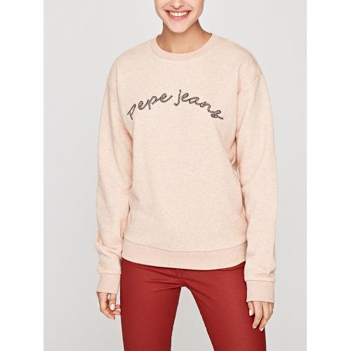 Pepe Jeans - Sweatshirt manches longues col rond imprimé Pepe Jeans - Rose clair - Sweat