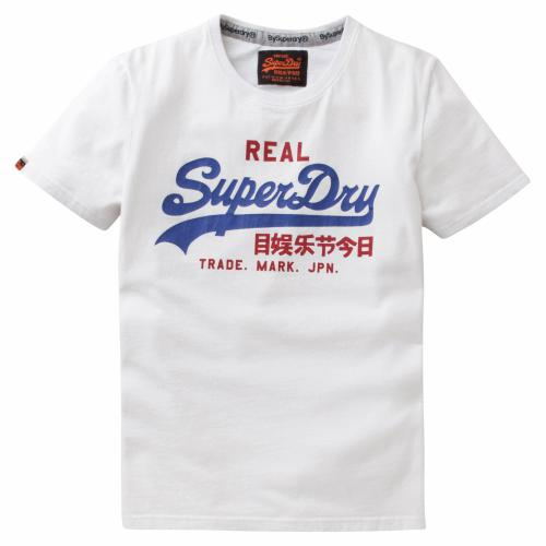 Superdry - Tee-shirt manches courtes vintage imprimé Japan Superdry homme - Blanc - T-shirt / Polo