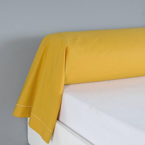 3 SUISSES Collection - Taie d'oreiller ou de traversin coton unie PERCALE - Jaune - Taie d'oreiller, traversin