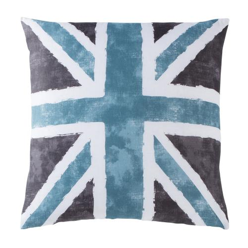 3 SUISSES Collection - Taie d'oreiller ou de traversin drapeau anglais Coton Old FLag - Gris - Taie d'oreiller, traversin