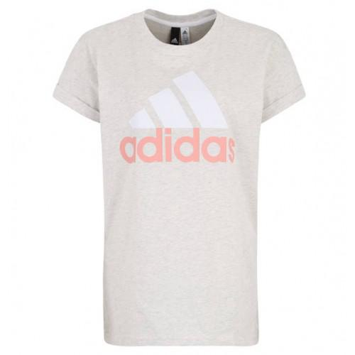 Adidas Performance - Tee-shirt Essentiel Linear gris chin? - Vêtement de sport