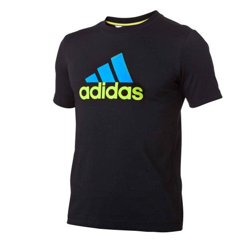 Adidas Performance - Tee-shirt manches courtes sport Adidas garçon - Noir - Adidas Performance