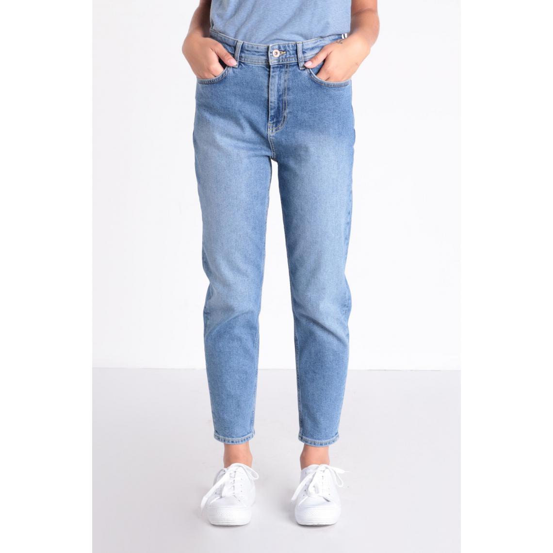 Jeans mom 5 poches - Bonobo - Modalova