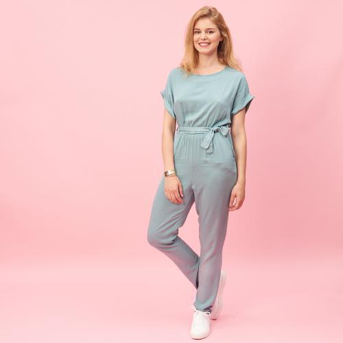 5e3c09ed41 3 SUISSES Collection - Combinaison pantalon manches courtes ceinturée -  Combinaison