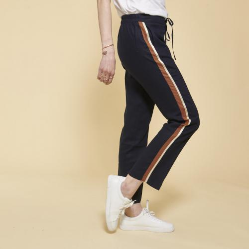 Pantalon femme adidas kaki 3 bandes dorées 38