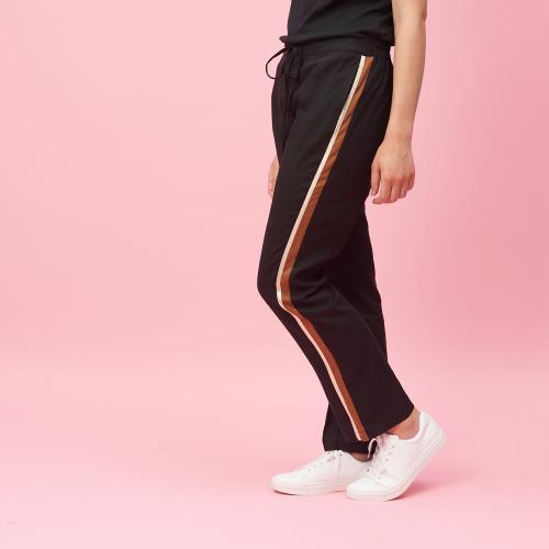9f3b7d4b5b160 3 SUISSES Collection - Pantalon en lin avec bandes appliquées - Pantalon