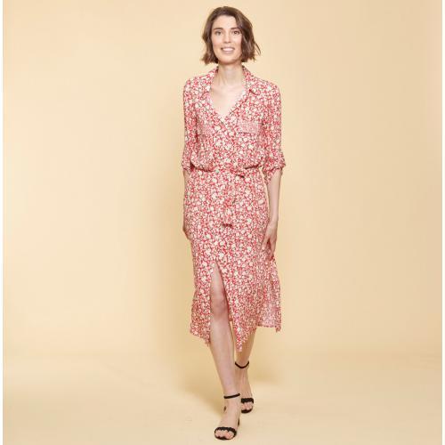 3365c108a89 3 SUISSES Collection - Robe chemise longue ceinturée - Robe