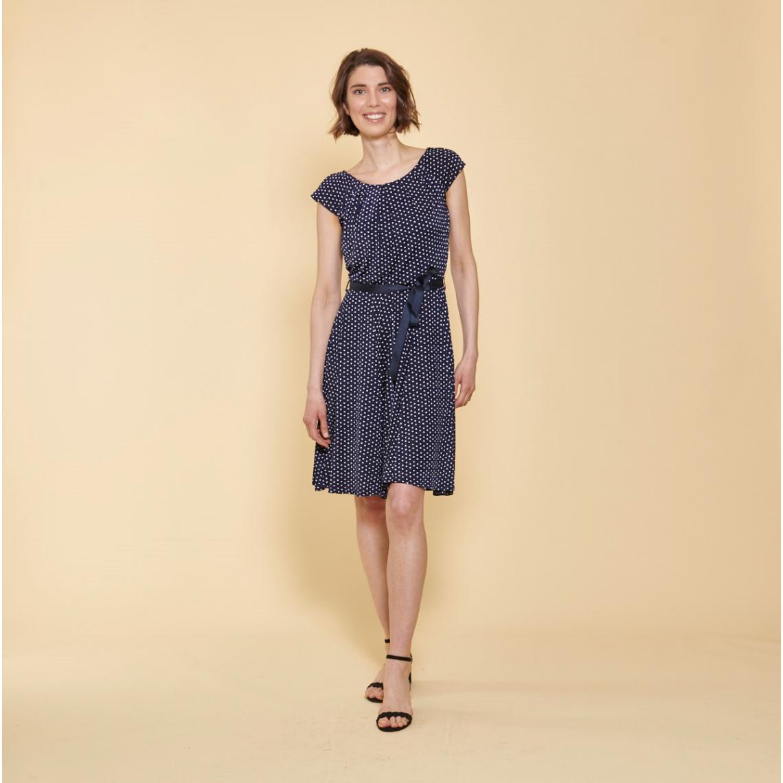 785c57494c8 Robe fluide ceinturée imprimée pois 3 SUISSES Collection Femme