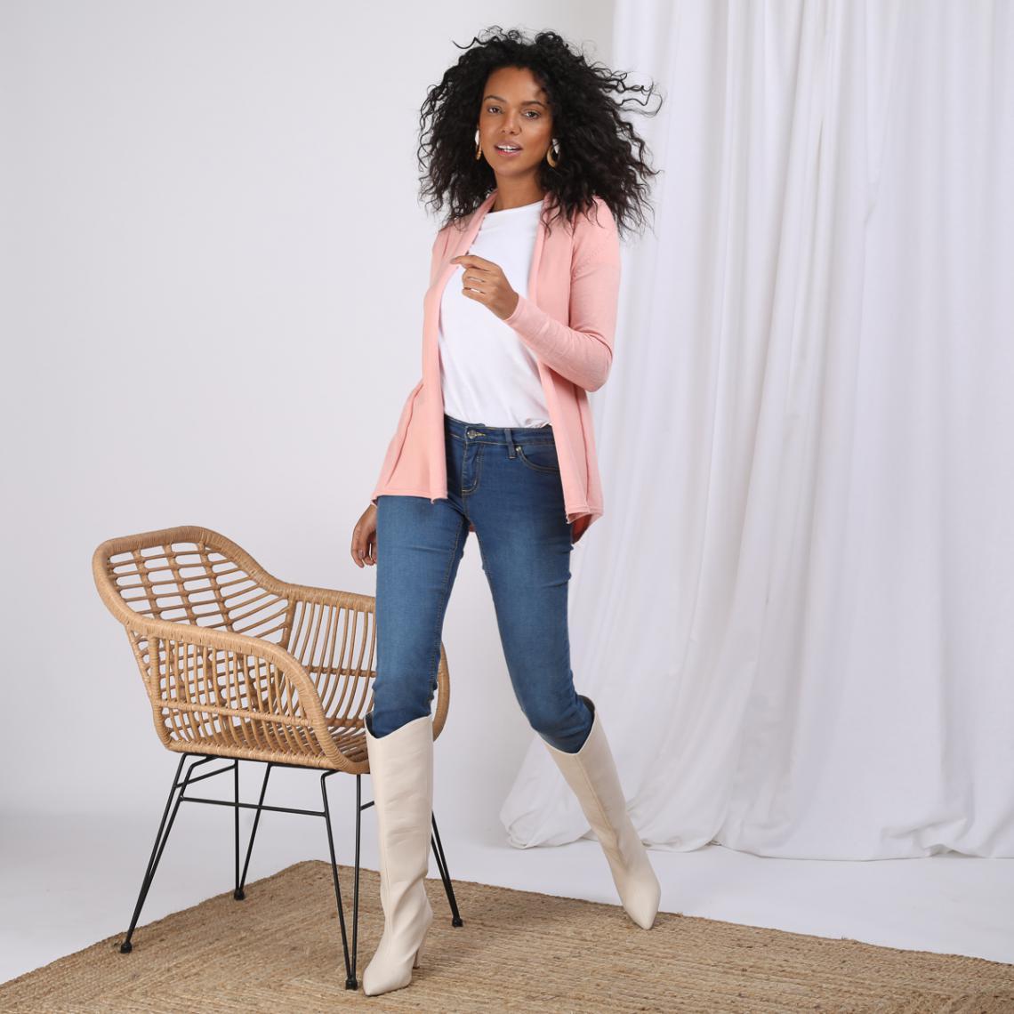 différemment prix incroyables mode attrayante Gilet manches longues femme - Rose | 3 SUISSES