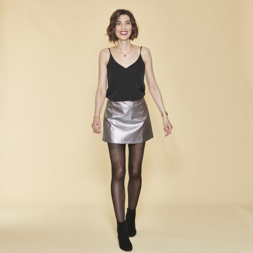 d1131caab99489 Jupe courte métallisée taille élastique femme 3 SUISSES COLLECTION