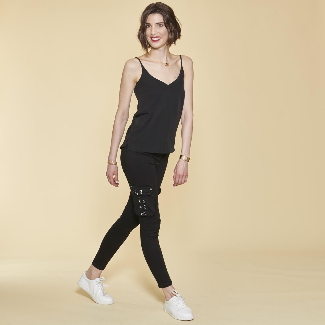 Pantalon cargo sur chevilles poches latérales et coutures genoux - 3 SUISSES - Modalova