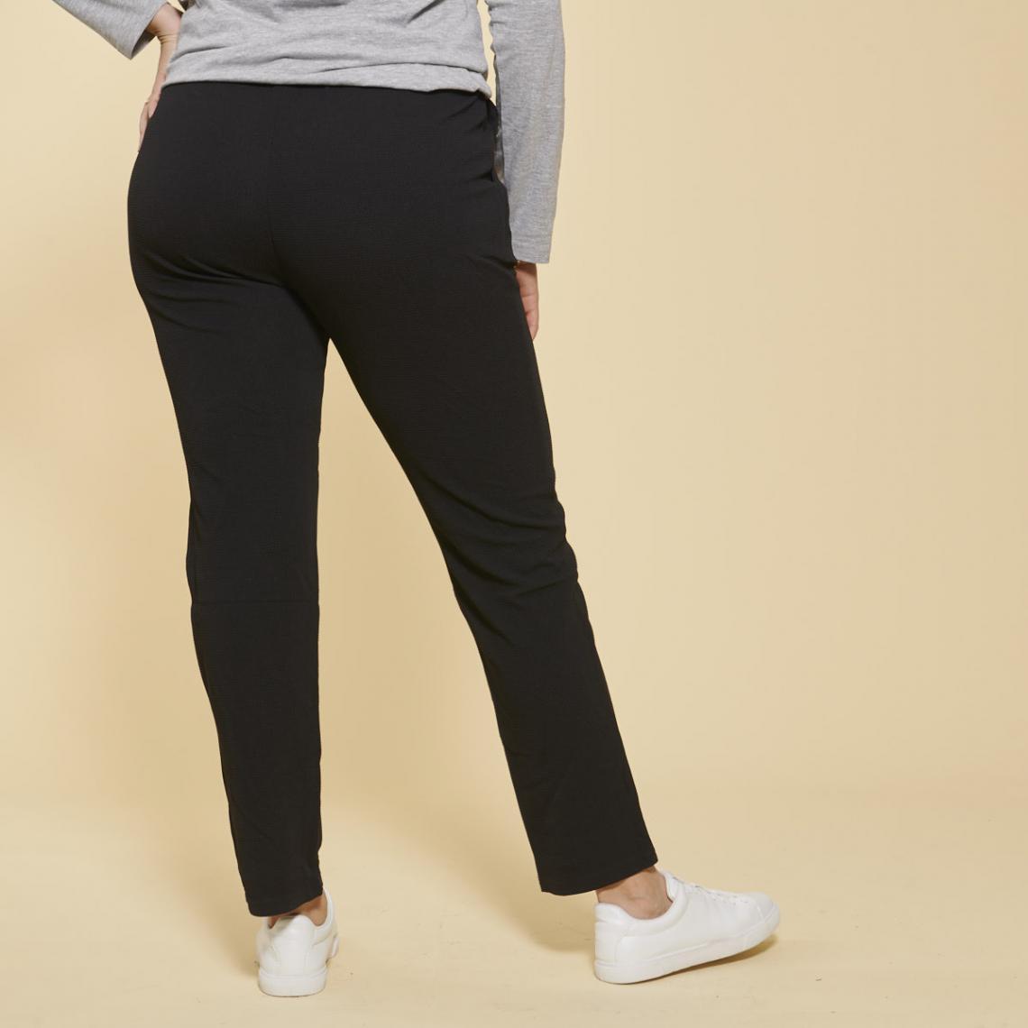 Pantalon taille élastique et cordon poches