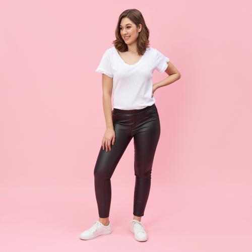 1bdc157111da4 3 SUISSES - Pantalon taille élastique poches fantaisie femme - Noir -  Pantalon