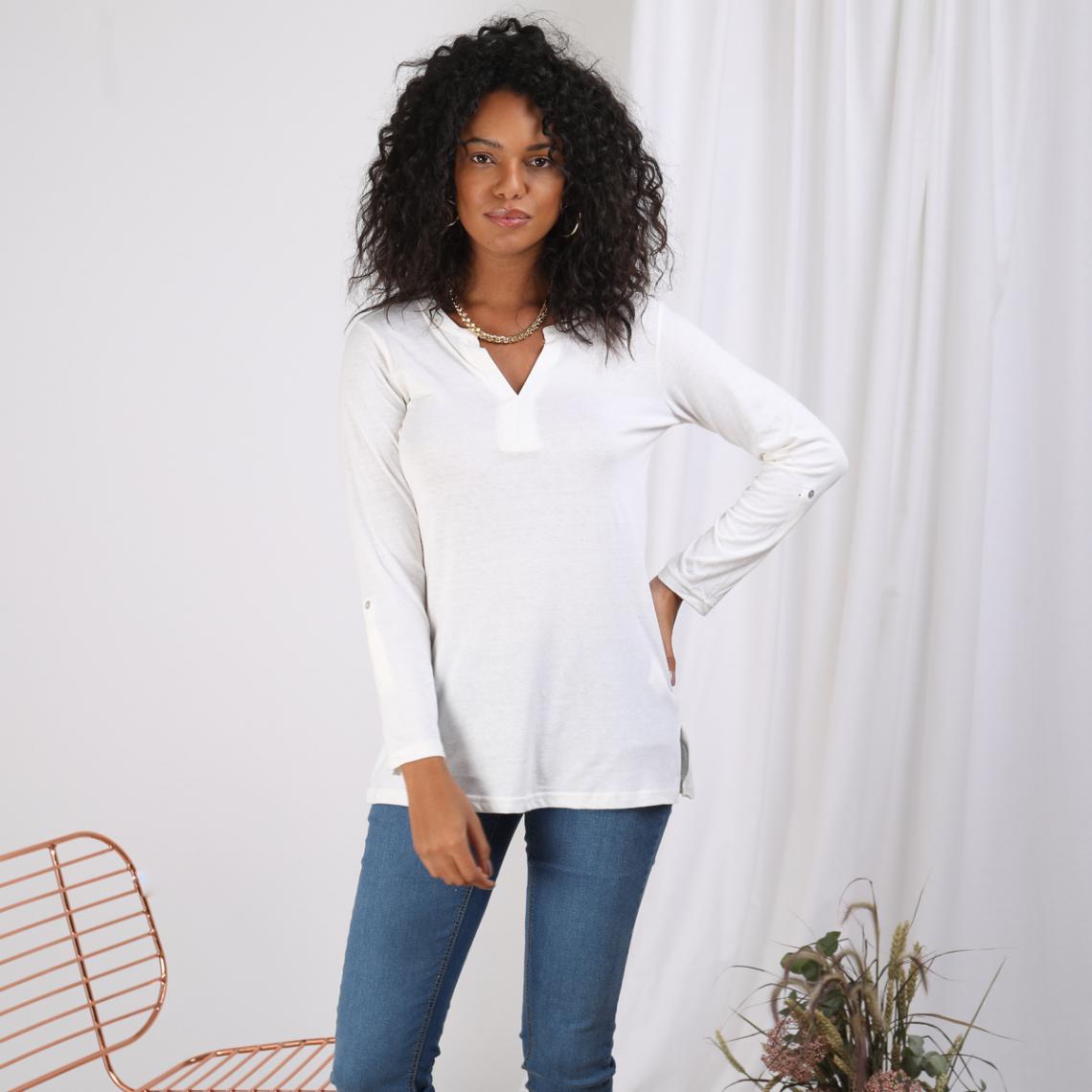 Tee-shirt - Blanc - 3S. x Le Vestiaire - Modalova