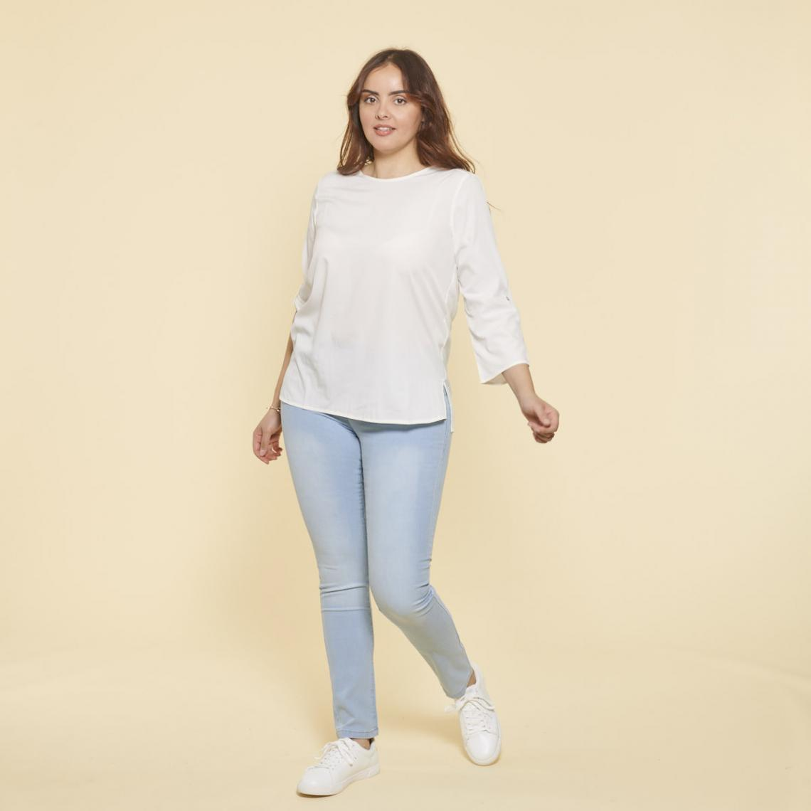 Tregging en jean élastique - Bleu Clair - 3 SUISSES - Modalova