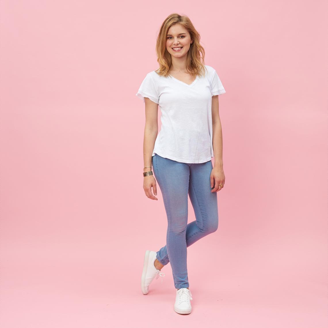 Tregging en jean élastique femme - 3 SUISSES - Modalova