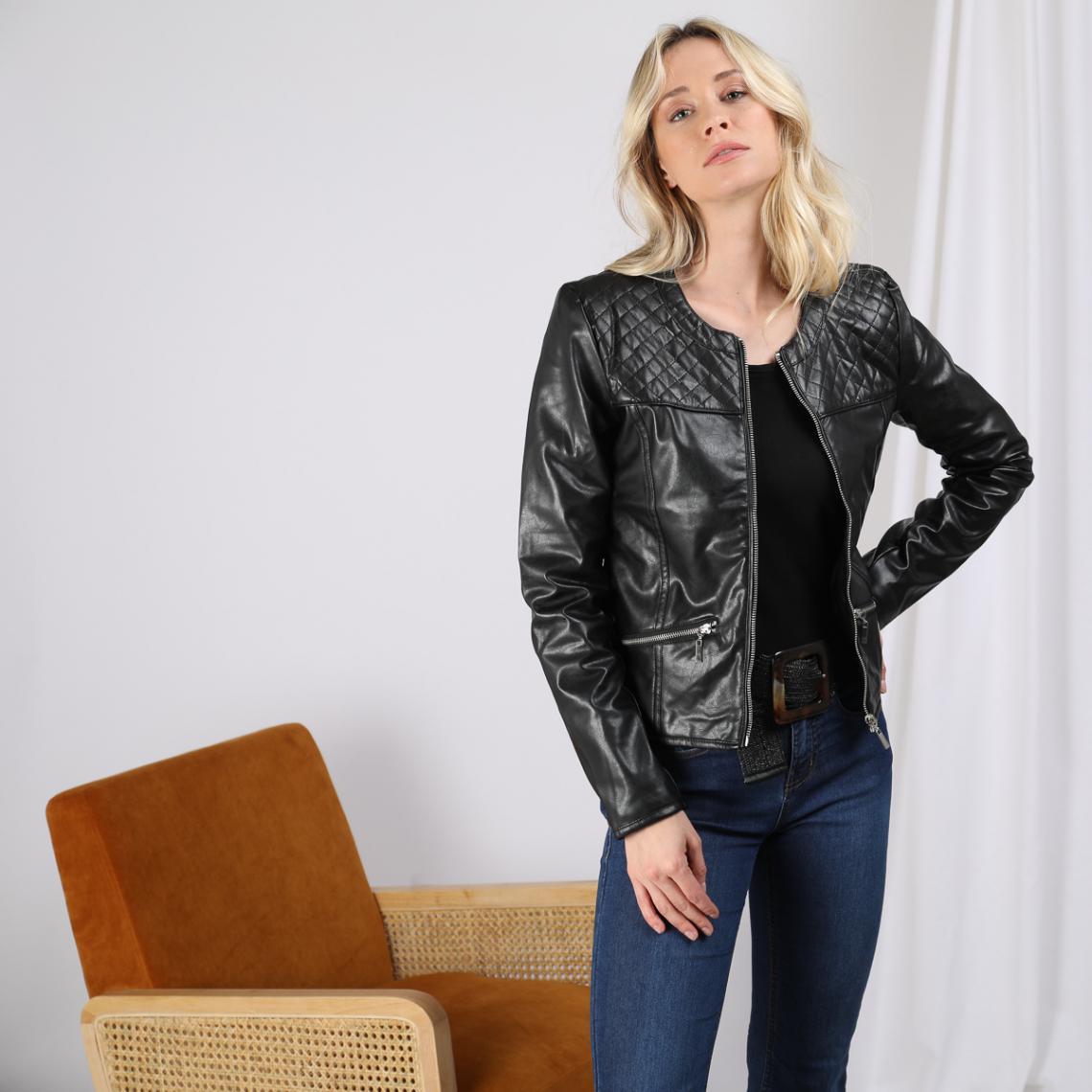 Vestes en cuir simili cuir Femme | 3 SUISSES