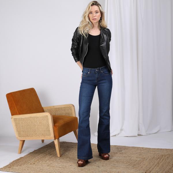 Veste zippée manches longues bas volanté femme Noir | 3