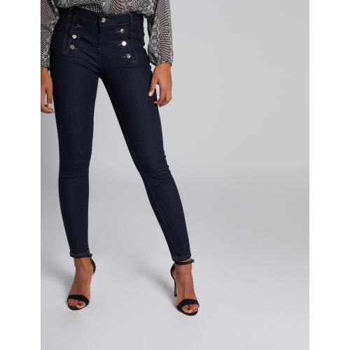 Morgan - Jeans skinny taille standard à pont - Jean
