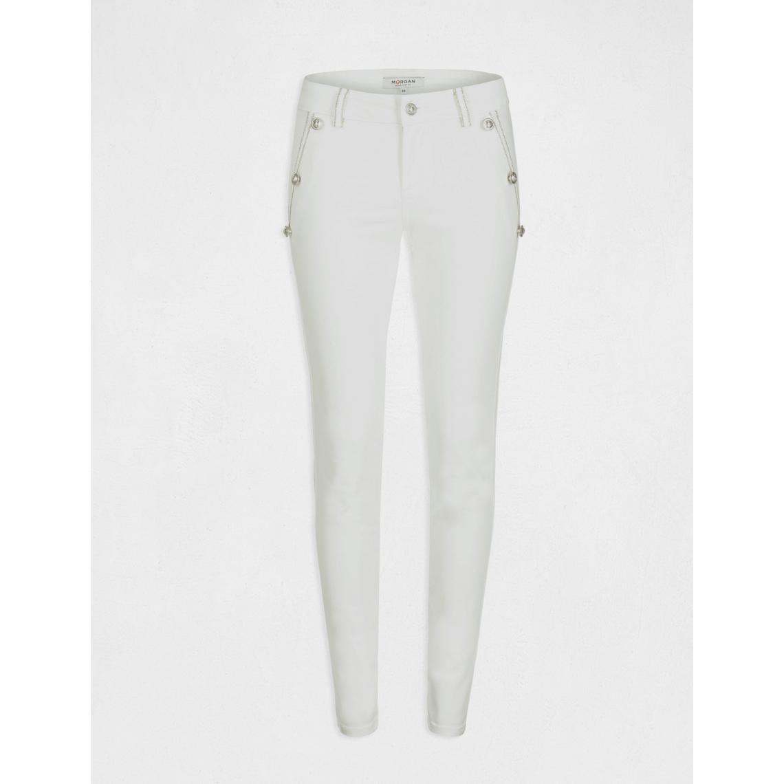 Pantalon slim taille basse à pont ALdkD
