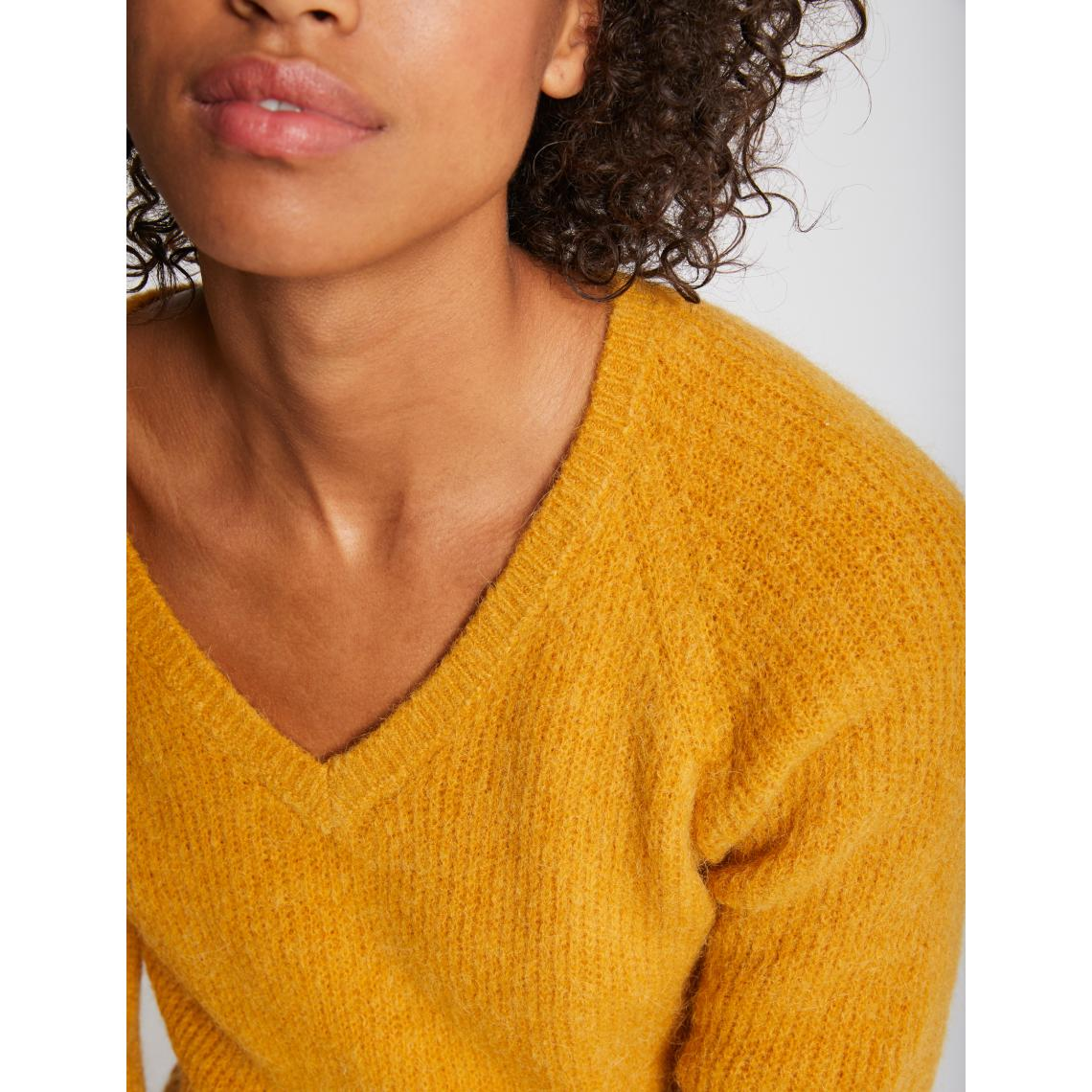pull femme maille duveteuse