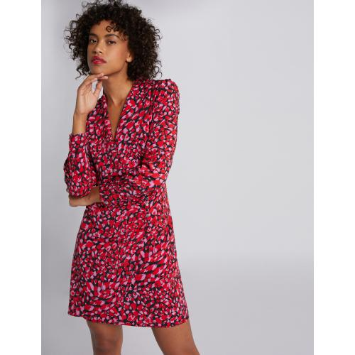 Morgan - Robe portefeuille imprimé abstrait - Robe multicolore
