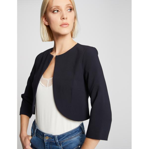 Veste boléro unie Morgan bleu vêtements femme | SOLDES