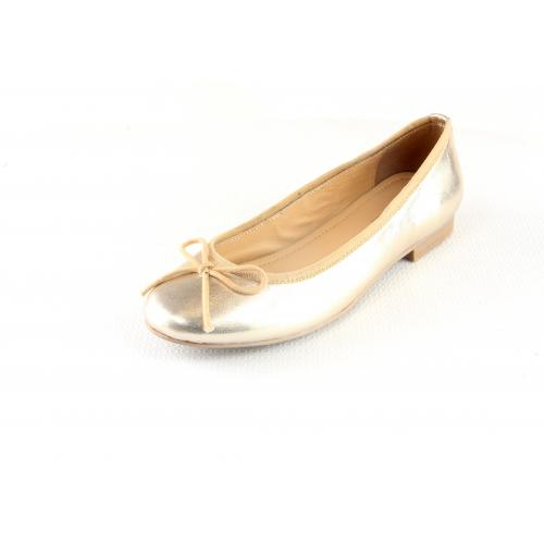 3S. x L'Edition - Ballerines en cuir Lea - Brillance Absolue