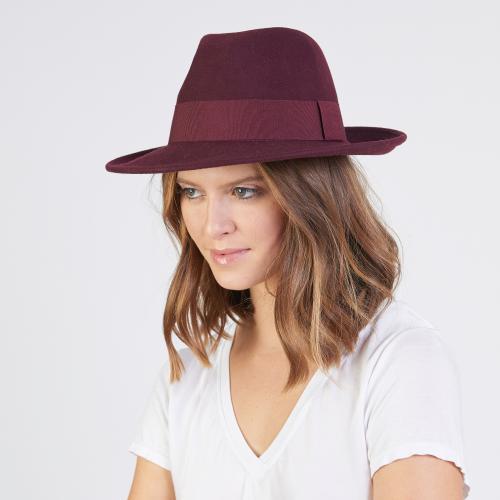 Chapeau Fedora en feutre 100% laine