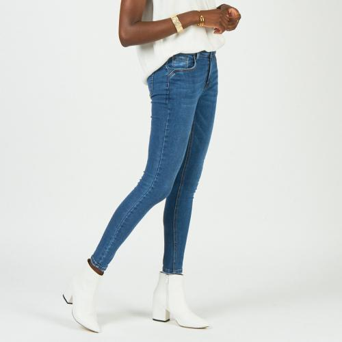 3S. x Basics - Jean skinny super stretch bleu - Denim