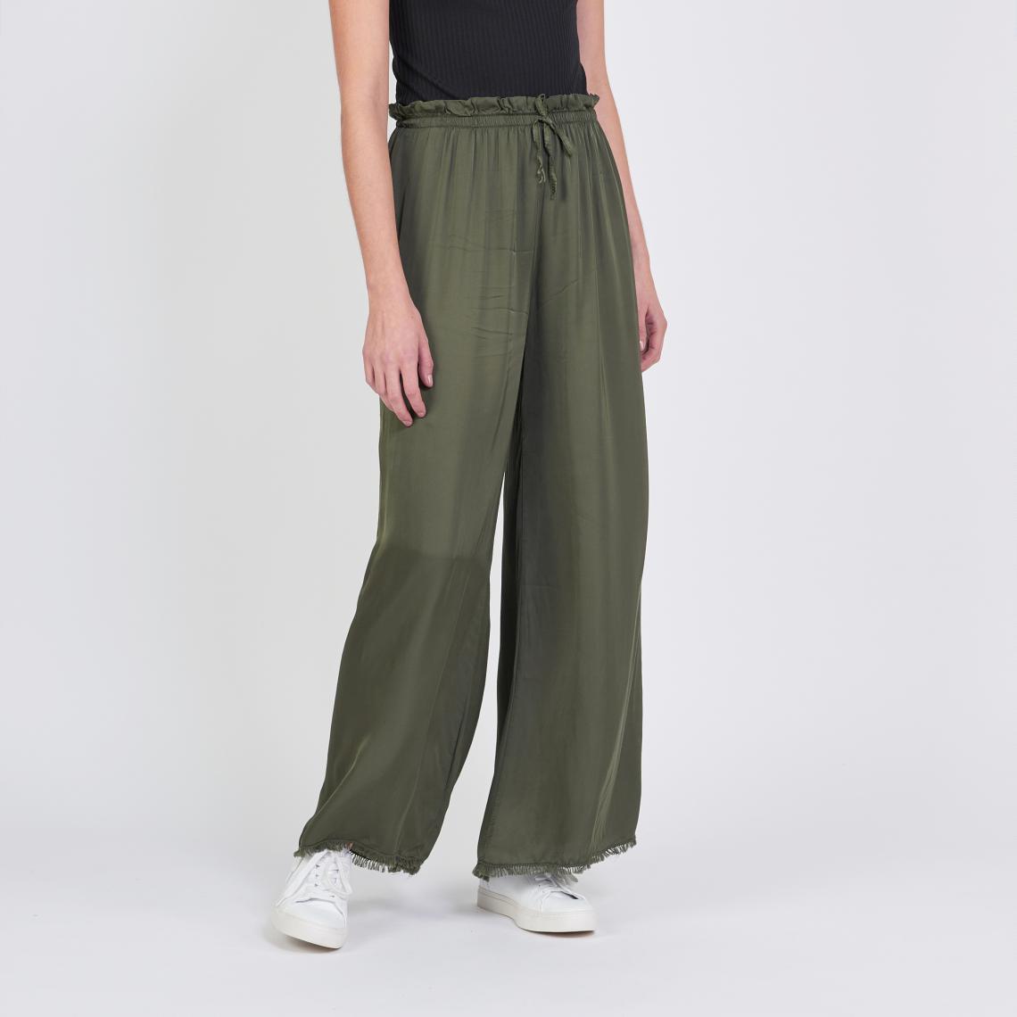 pantalon femme fluide large