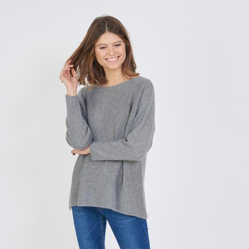 3S. x Stylist - Pull col bateau mélange cachemire - Pull