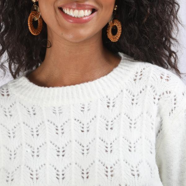 Pull maille pointelle Beth 3S. x Basics