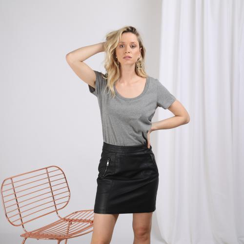 3S. x Basics - Tee-shirt manches courtes col rond - La mode