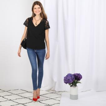 3S. x Basics - Top manches courtes Irene - Blouse, chemise